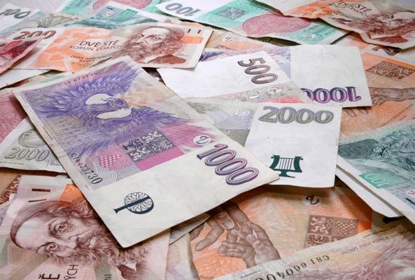 peníze CZK